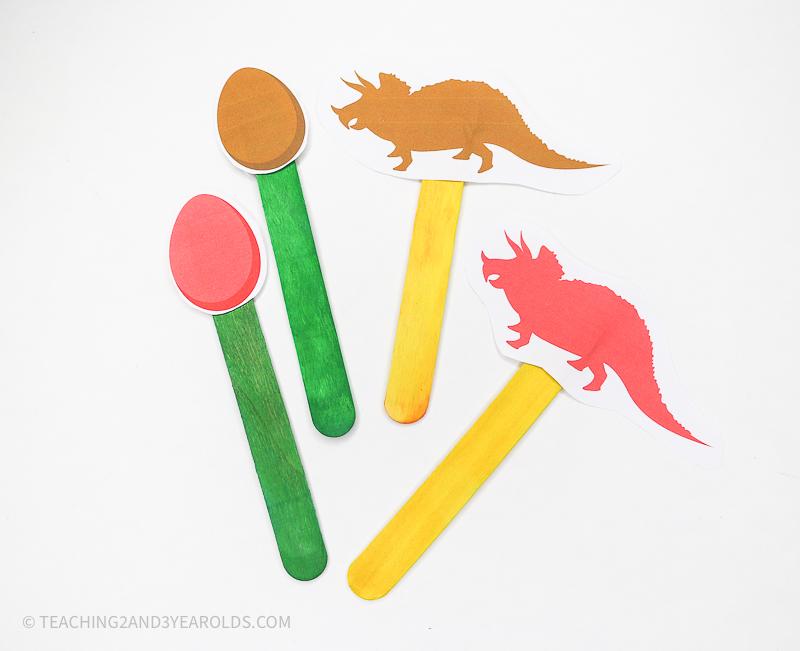 Dinosaur Color Matching Printable for Circle Time