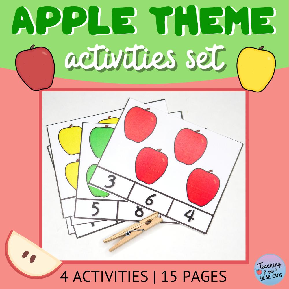 apple theme activities printables