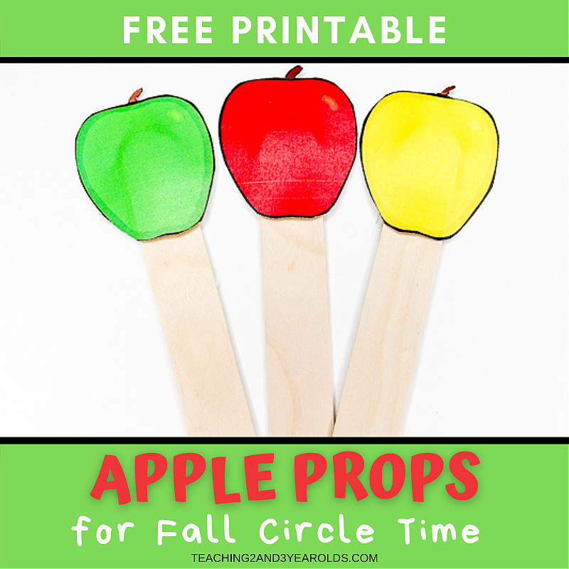 Apple Themed Circle Time Printable Props