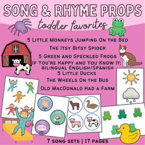 Preschool Songs & Rhymes Props