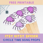 Itsy Bitsy Spider Printable Activity for Circle Time