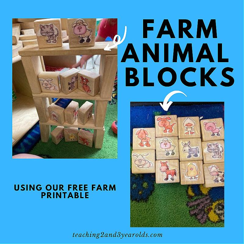 farm animal blocks