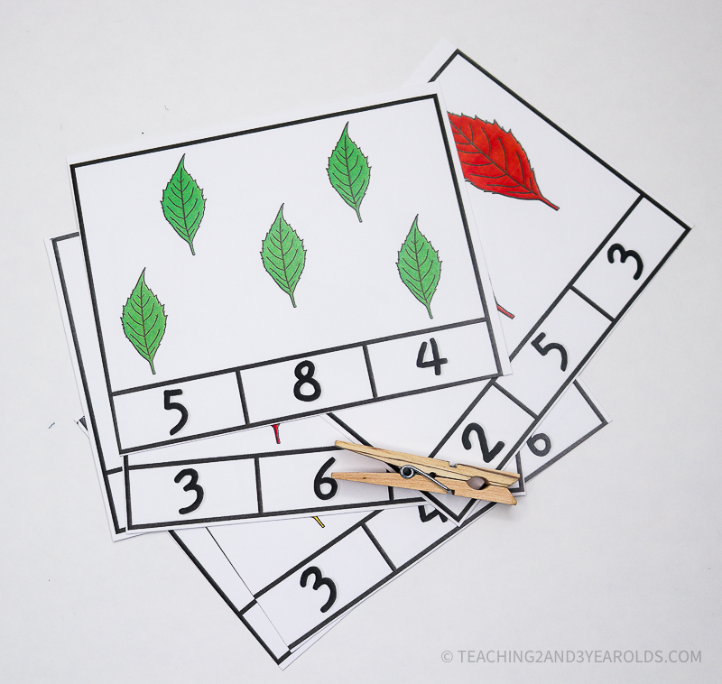 Fall Leaves Count and Clip Activity