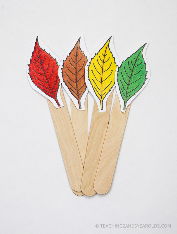 Leaf Circle Time Props and Activities