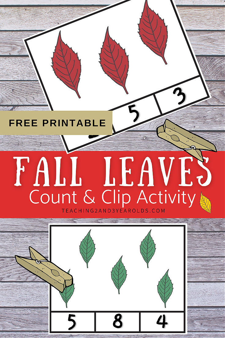 Fall Leaves Count and Clip Activity {Free Printable}