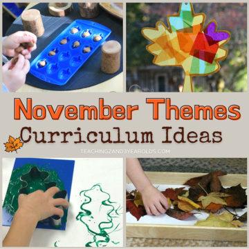 Toddler and Preschool November Theme Ideas