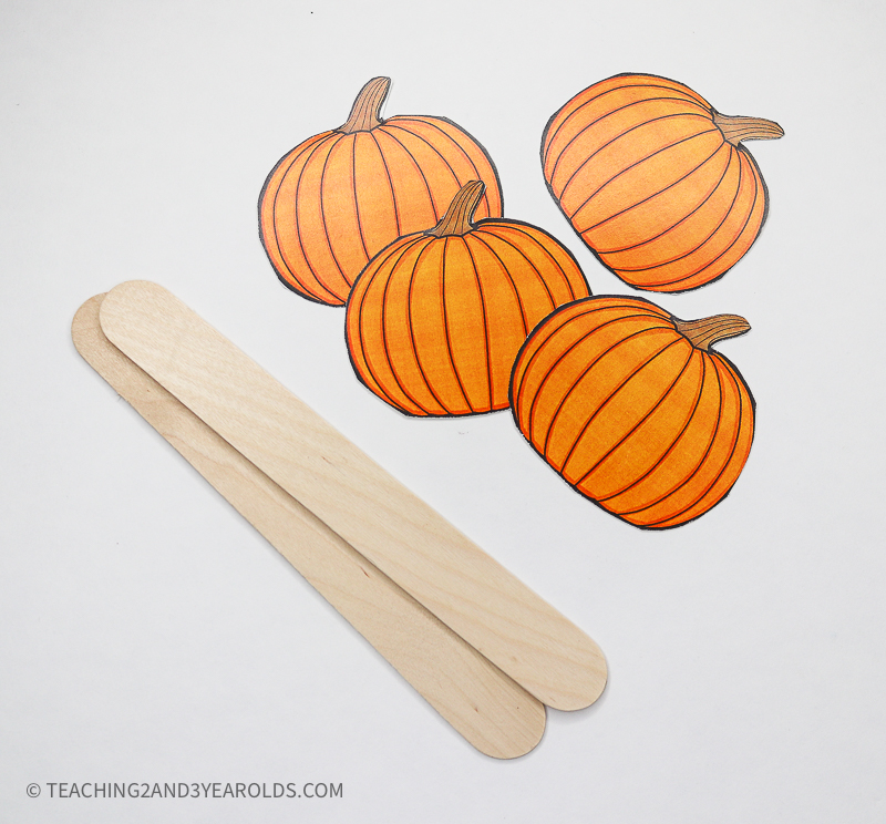 Pumpkin Themed Circle Time Printable Props
