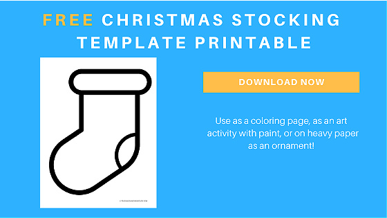 Christmas stocking printable template