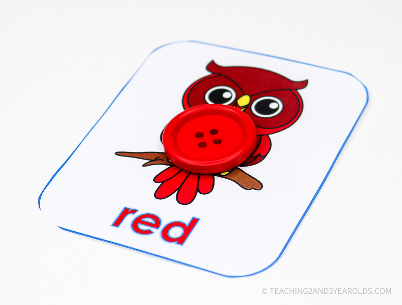 Color Recognition Owl Printable Activity