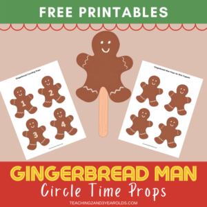 Gingerbread Man Circle Time Printable Props