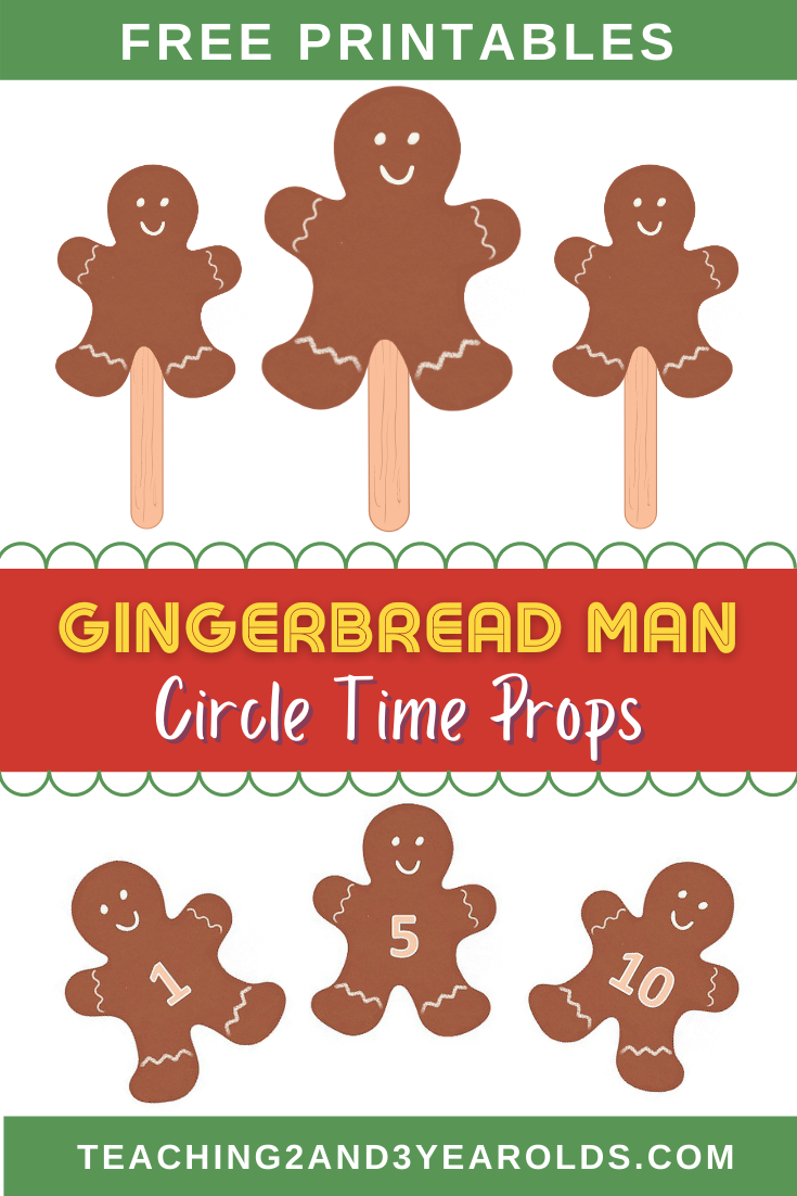 Gingerbread Man Circle Time Printable Props