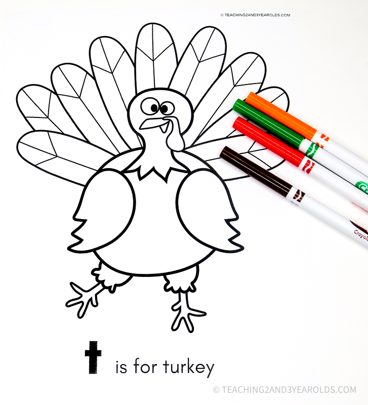 Free Thanksgiving Color Sheet Printable