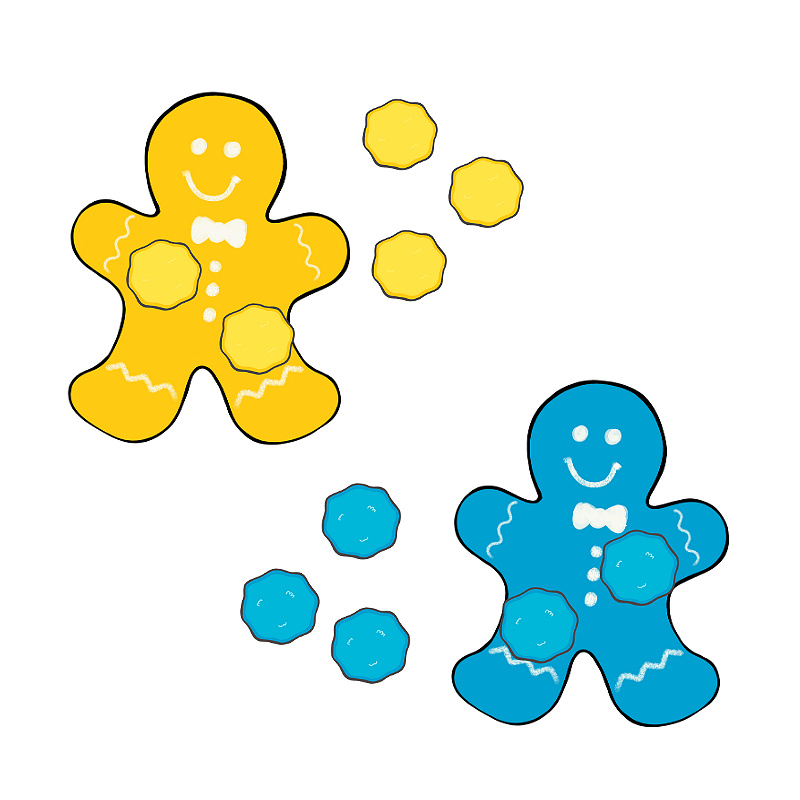 Color Sorting Gingerbread Activity