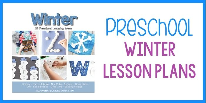 Preschool Lesson Plans Winter