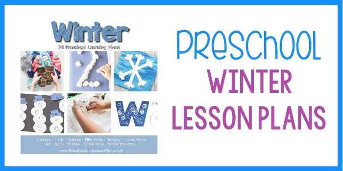 Preschool Lesson Plans Winter