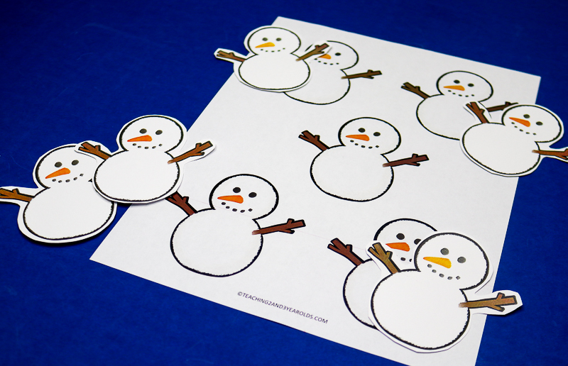 Cute Printable Snowman Prop for the Winter Circle Time