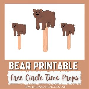 Printable Bear Circle Time Prop
