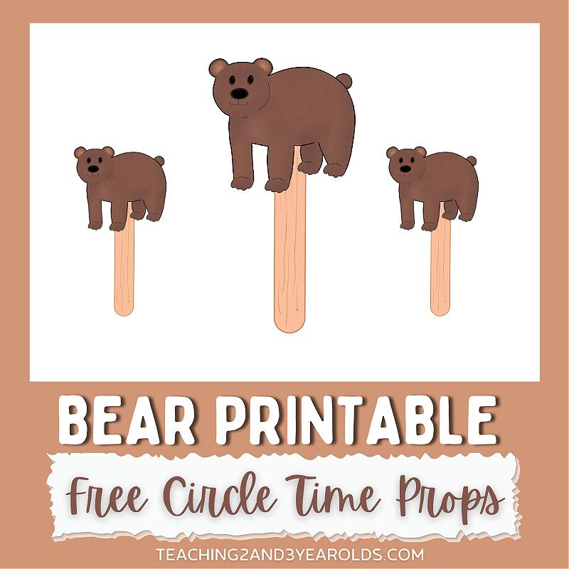 Printable Bear Circle Time Prop