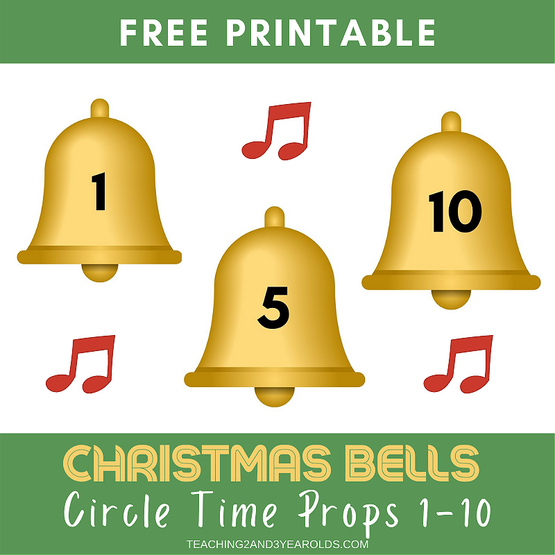 Christmas Bells Printable for Counting Activities