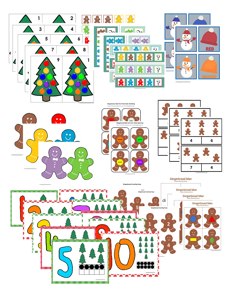 Preschool Christmas Learning Activities - 39 Pages of Hands-On Printables!