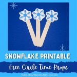 Snowflake Printable Circle Time Props