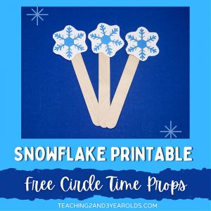 Snowflake Printable Circle Time Props