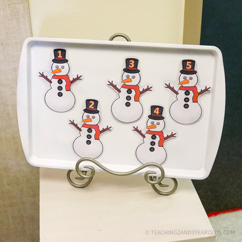 Five Little Snowmen Winter Circle Time Activity