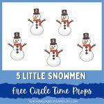 Five Little Snowmen Winter Circle Time Activity