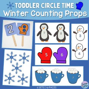 Printable Toddler Winter Counting Props