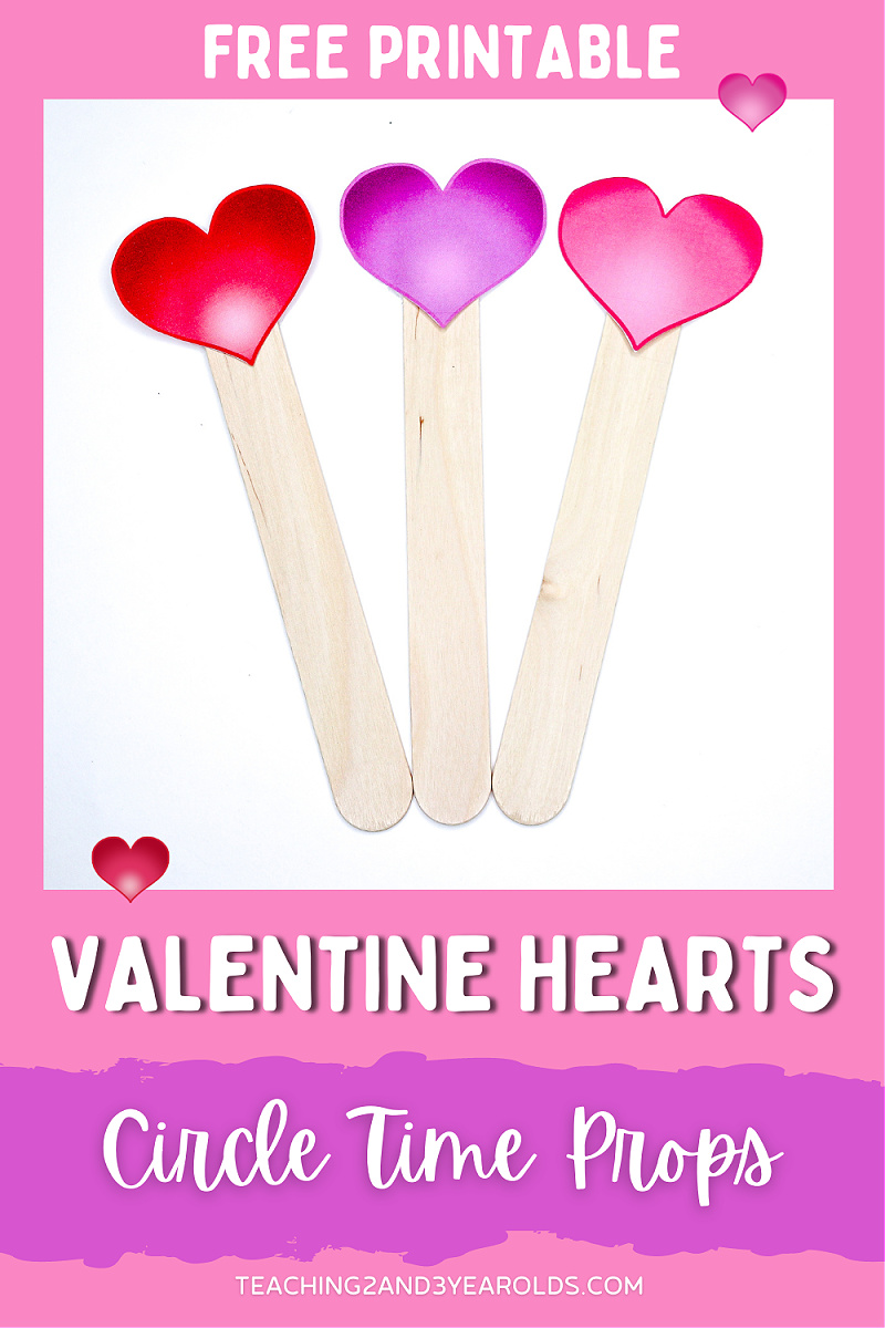 Printable Valentine's Day Circle Time Prop