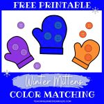 Printable Mitten Winter Color Matching Activity