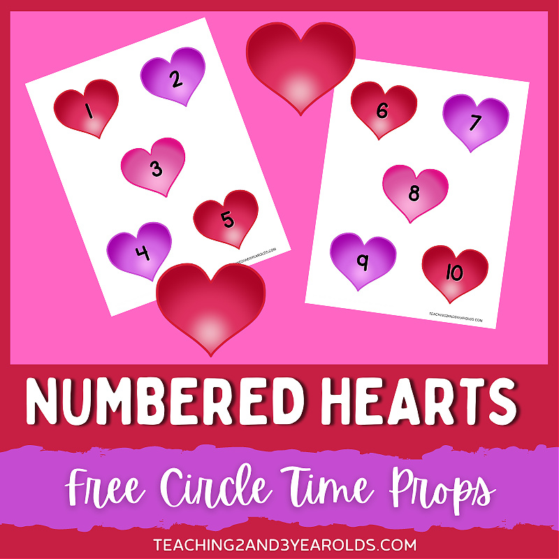 Valentine's Day Counting Printable for Circle Time