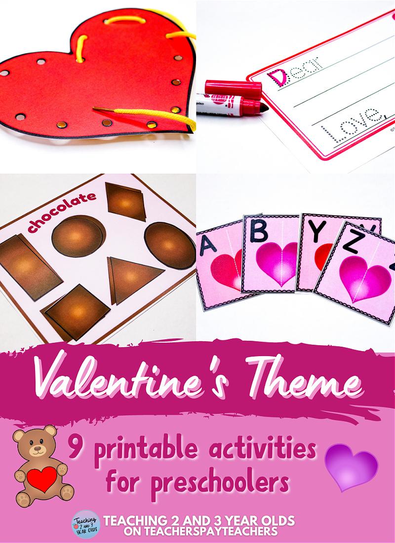 Preschool Valentine's Day Learning Activities