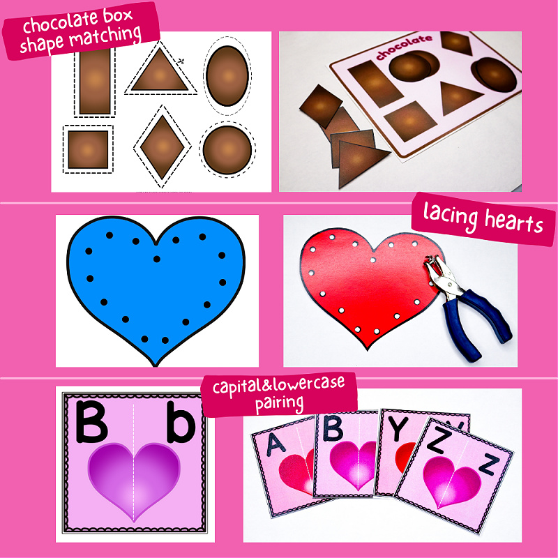 Printable Valentine's Day Learning Activities for Toddlers and Preschoolers