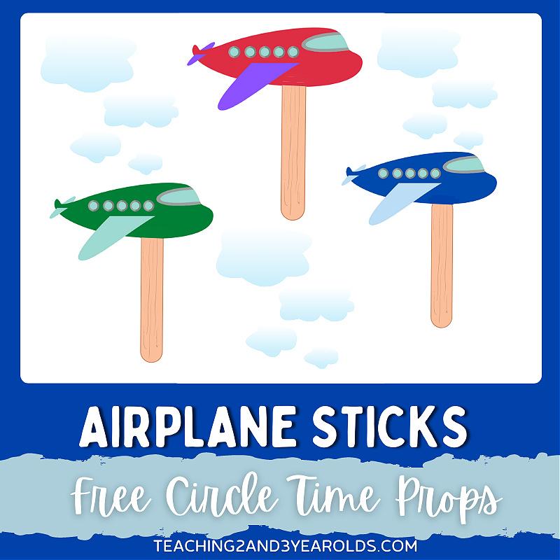 Printable Airplane Circle Time Props