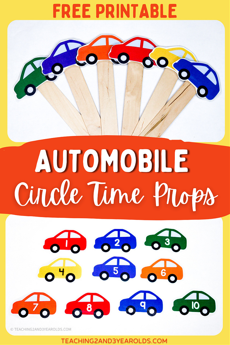 Printable Car Props for the Transportation Circle Time