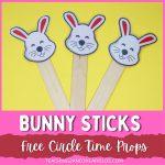 Printable Bunny Easter Circle Time Props
