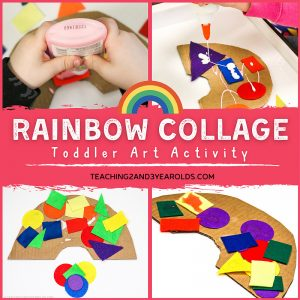 Easy Toddler Rainbow Art Activity