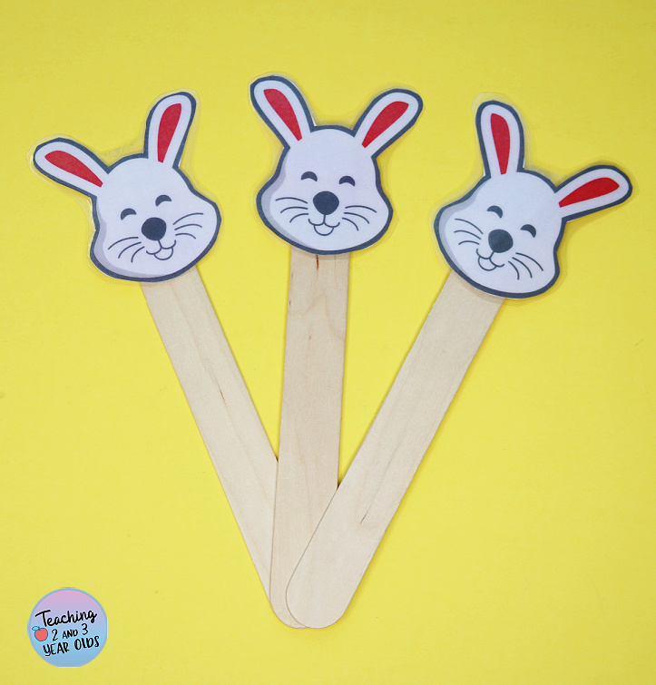 Printable Bunny Easter Circle Time Props