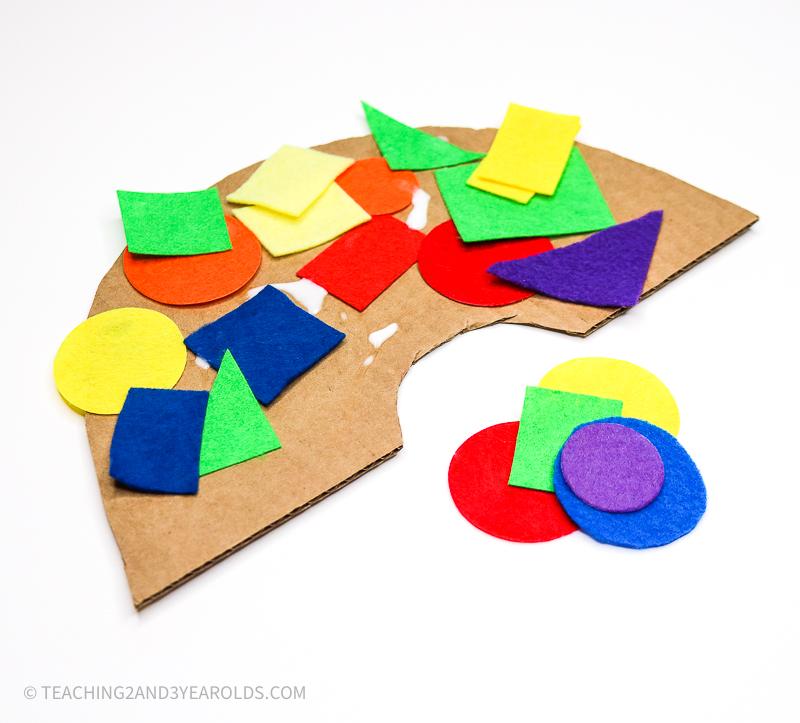 Easy Toddler Rainbow Art Activity