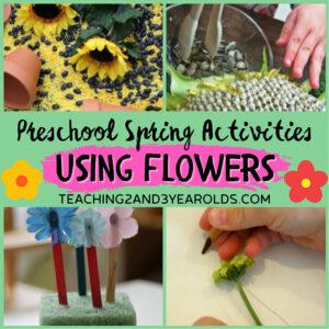 preschool spring activities flowers