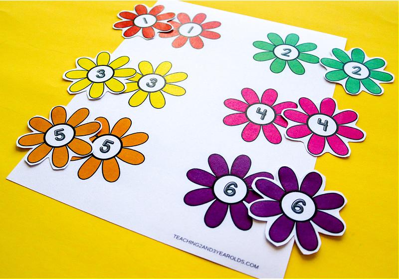 Printable Gardening Theme Circle Time Props