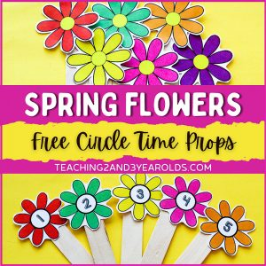 Printable Gardening Theme Circle Time Props