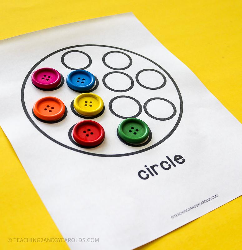 Preschool Shapes Printable Activity