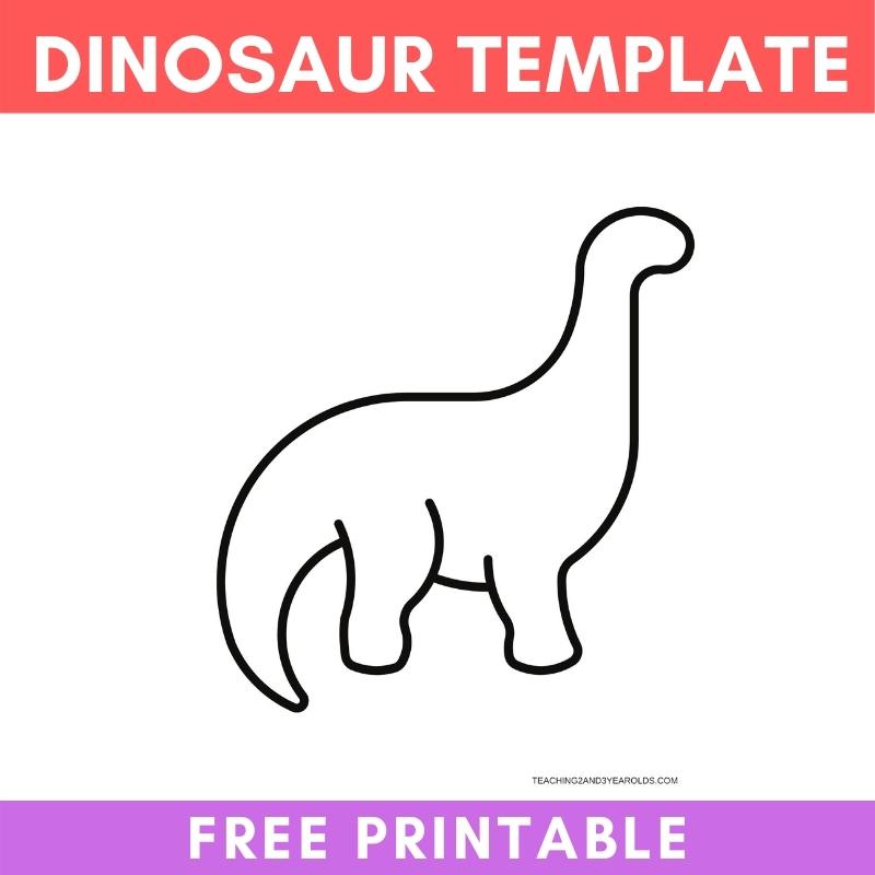 free dinosaur template printable