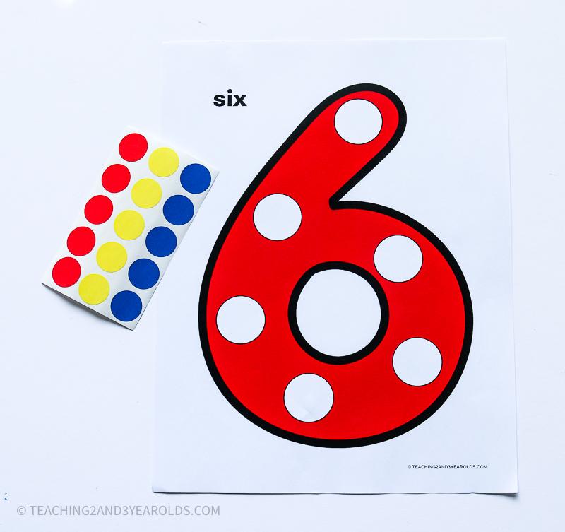 Free Dot Numbers 1-10 Printables
