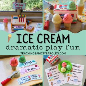 preschool ice cream dramatic play
