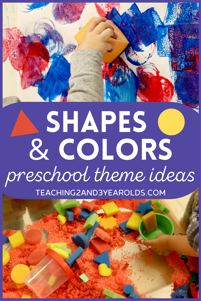 toddler and preschool shapes theme