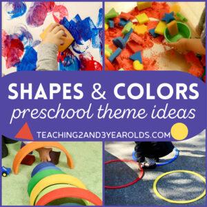 preschool shapes theme
