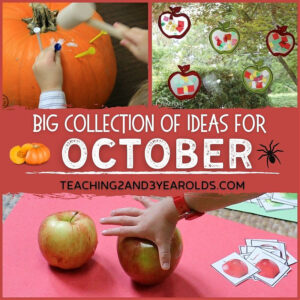 Toddler and Preschool October Theme Ideas